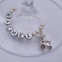 Baby Pram Wine Glass Charms